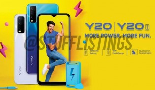 gsm arena - vivo y20 image leaked- full specificaions